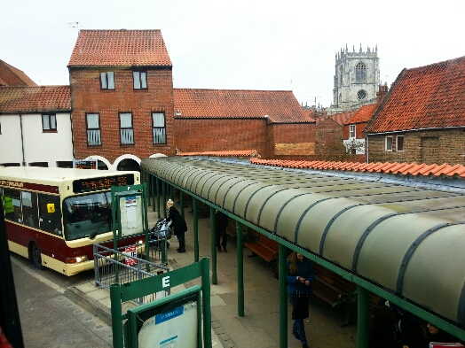 Waiting to depart from Beverley bus station