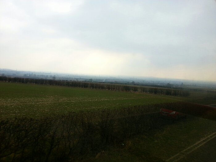 View from above Market Weighton from the Yorkshire Wolds