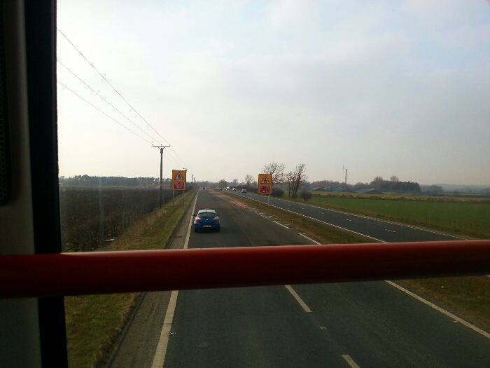 The end of the dual carrigeway