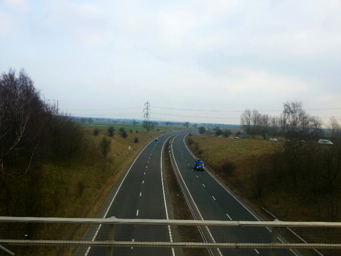 Crossing the A64 York bypass