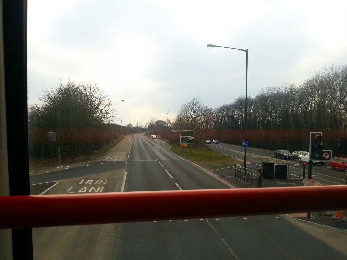 Just passed Grimston Bar Park and Ride