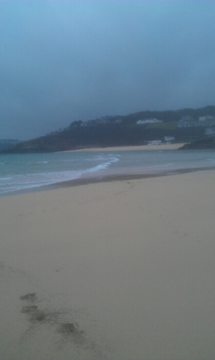 St Ives beach bueatiful white sand