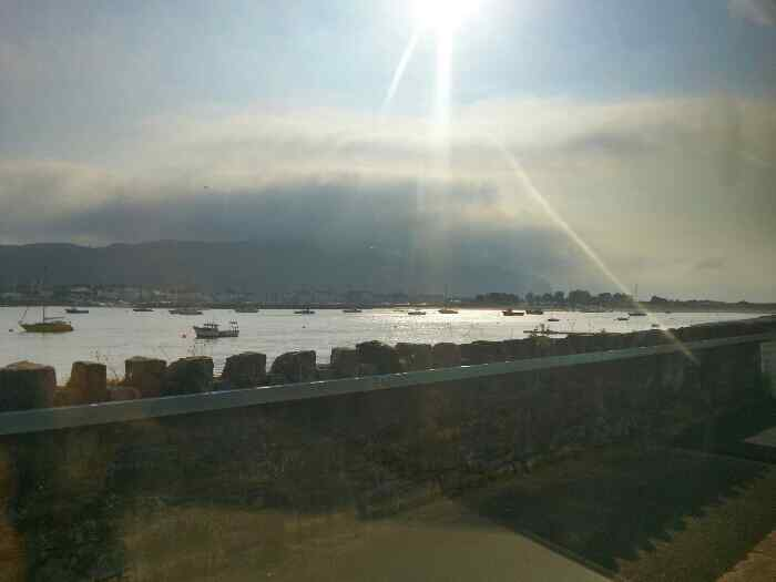 View over the Conwy Estuary from Deganwy Station