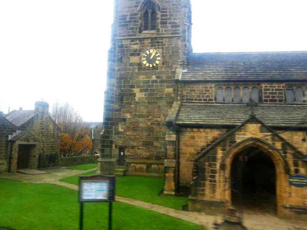 Passing All Saints Ilkley on a X84 bus