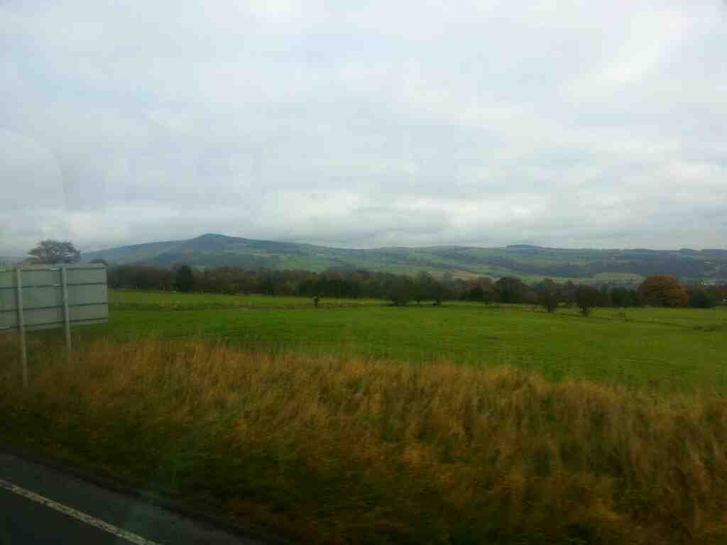 Traveling along the A65 Addingham bypass on a X84 bus