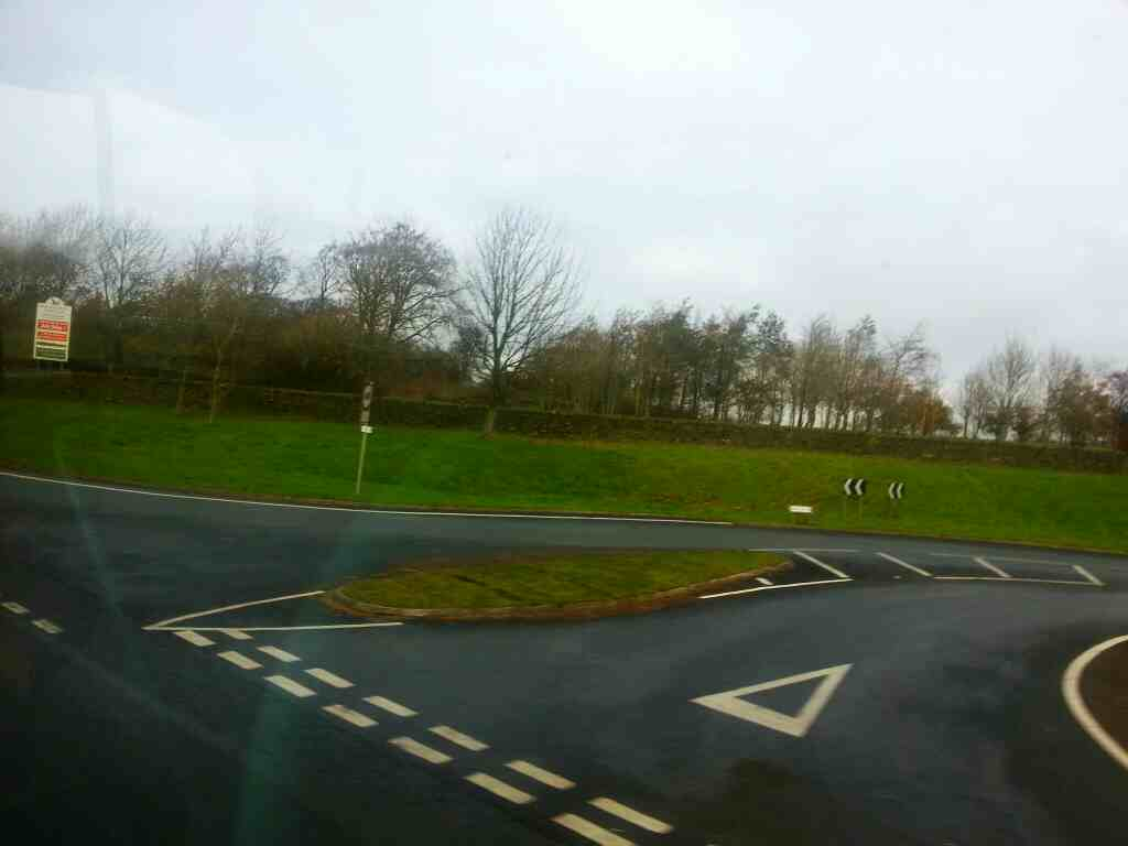 Junction of Skipton Rd and Addingham bypass taken from a X84 bus