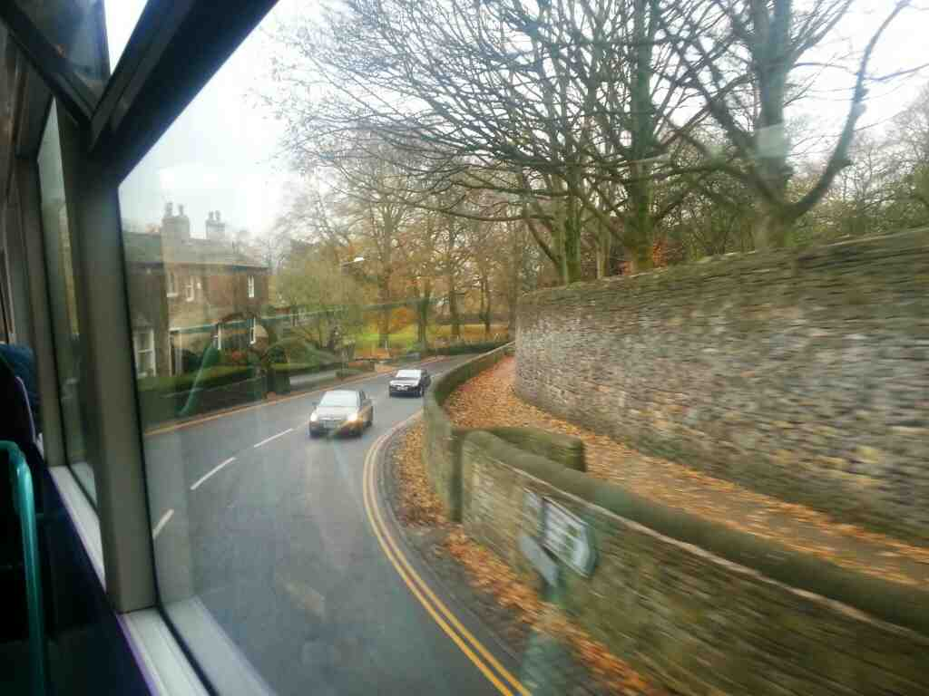 Passing the grounds of Skipton Castle on the Bailey on a X84 bus
