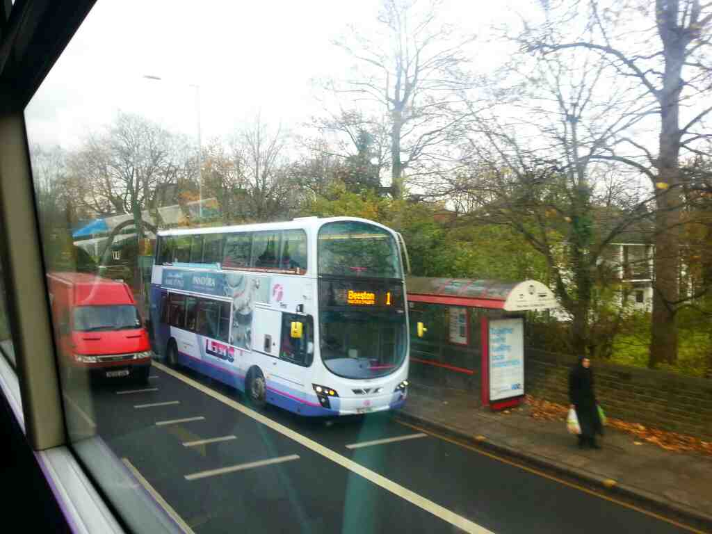 Otley Rd A660 Leeds a number 1 bus from Holt Park to Beeston