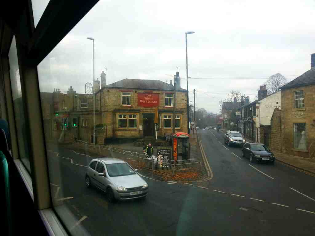 Passing the three Horseshoes Pub Otley Rd Leeds West Yorkshire