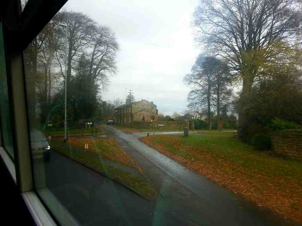 Leaving Bramhope on a X84 bus