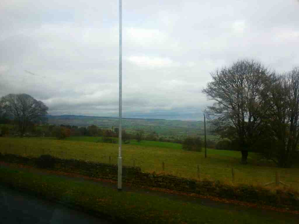 View of Wharfedale from an X84 bus
