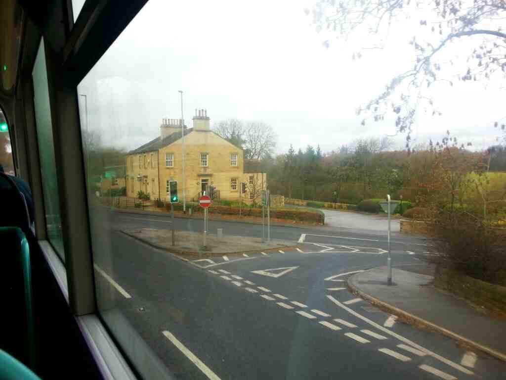 Crossing Pool Bank New Rd on Leeds Rd the A660 on a X84 bus