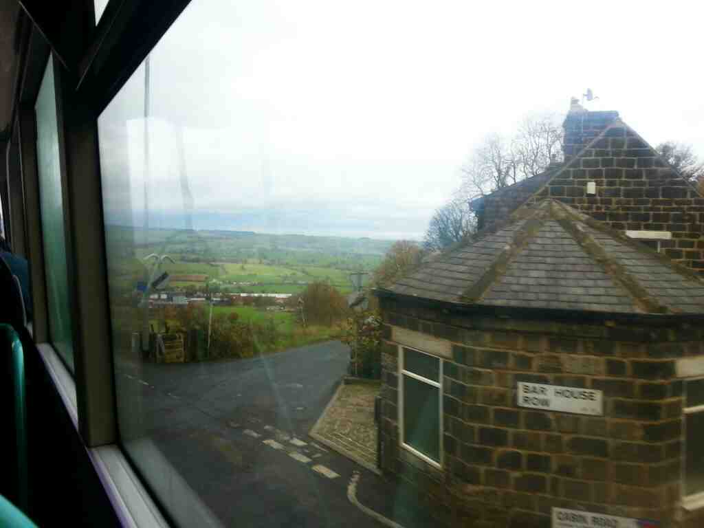 passing The Bar House Pool in Wharfedale on a X84 bus