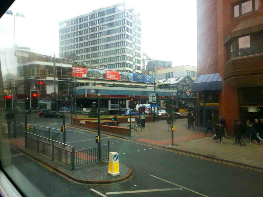Passing the Picture House Crown Carvery Leeds on a X84 bus