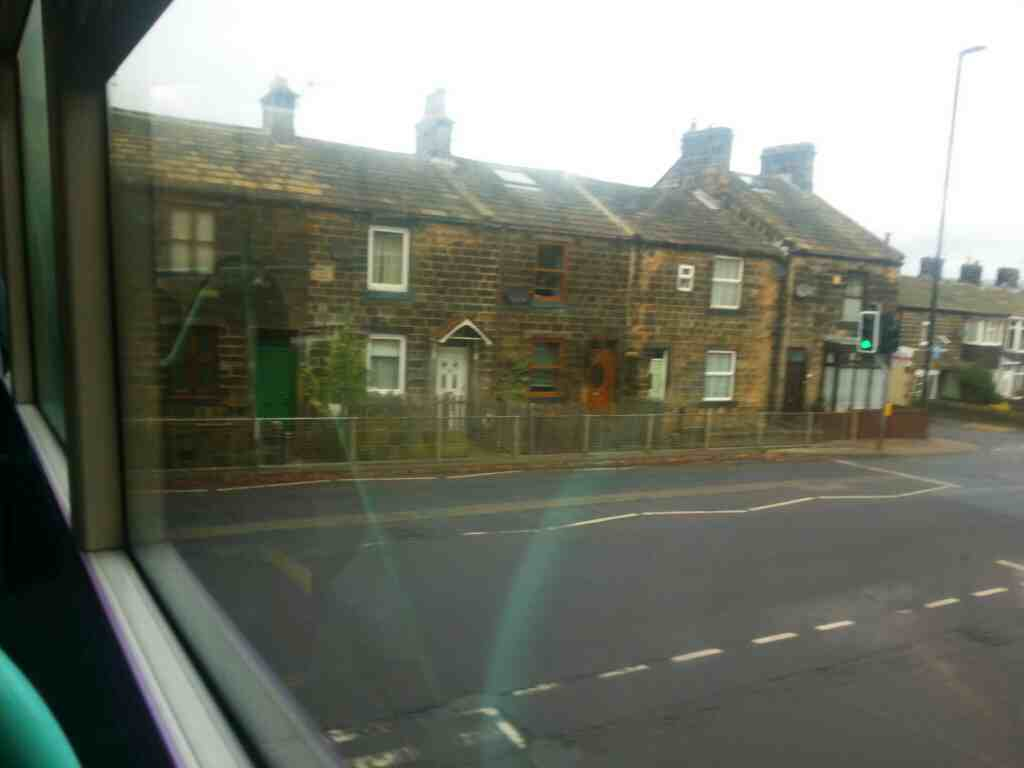 Turning left into Bradford Rd the A659 on an X84 bus