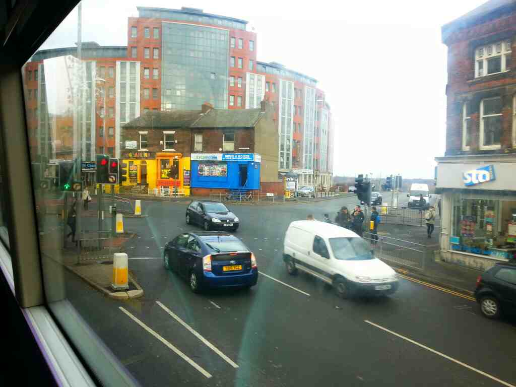 Passing the end of St Marks Rd Leeds on X84 bus
