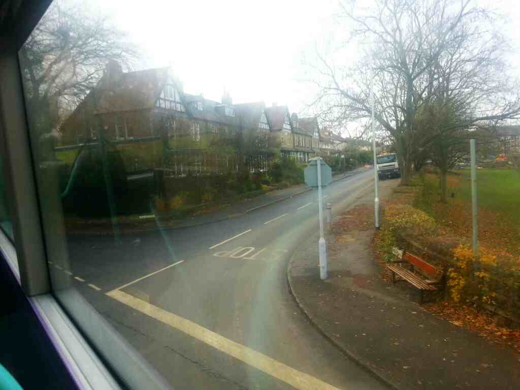 Turning off Wheatley Rd onto Valley Drive Ben Rhydding on an X84 bus