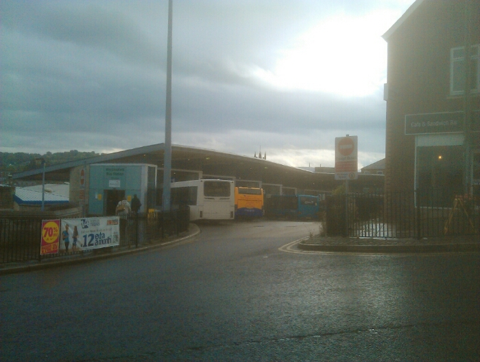 Macclesfield bus station.