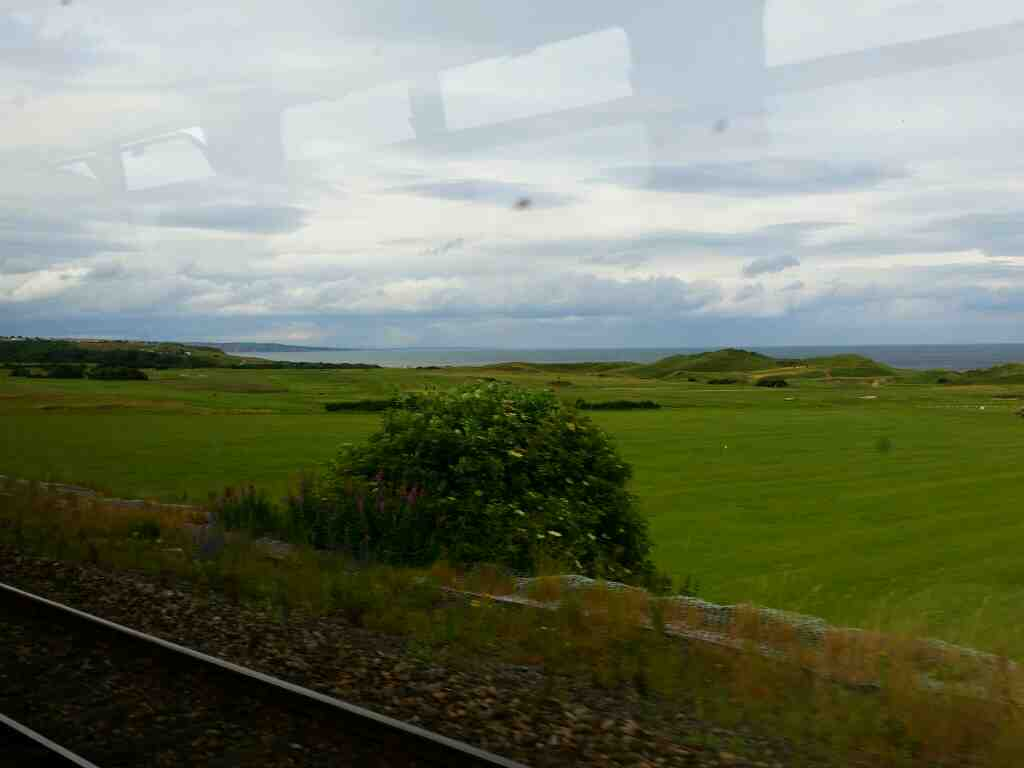 Coastal Golf Hartlepool on a Northern Rail Middlesbrough to Newcastle train