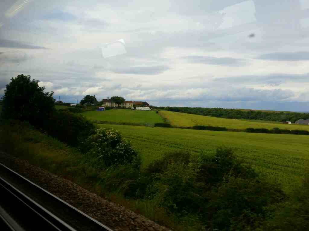 Passing Crimdon House Farm on a Northern Rail Middlesbrough to Newcastle train
