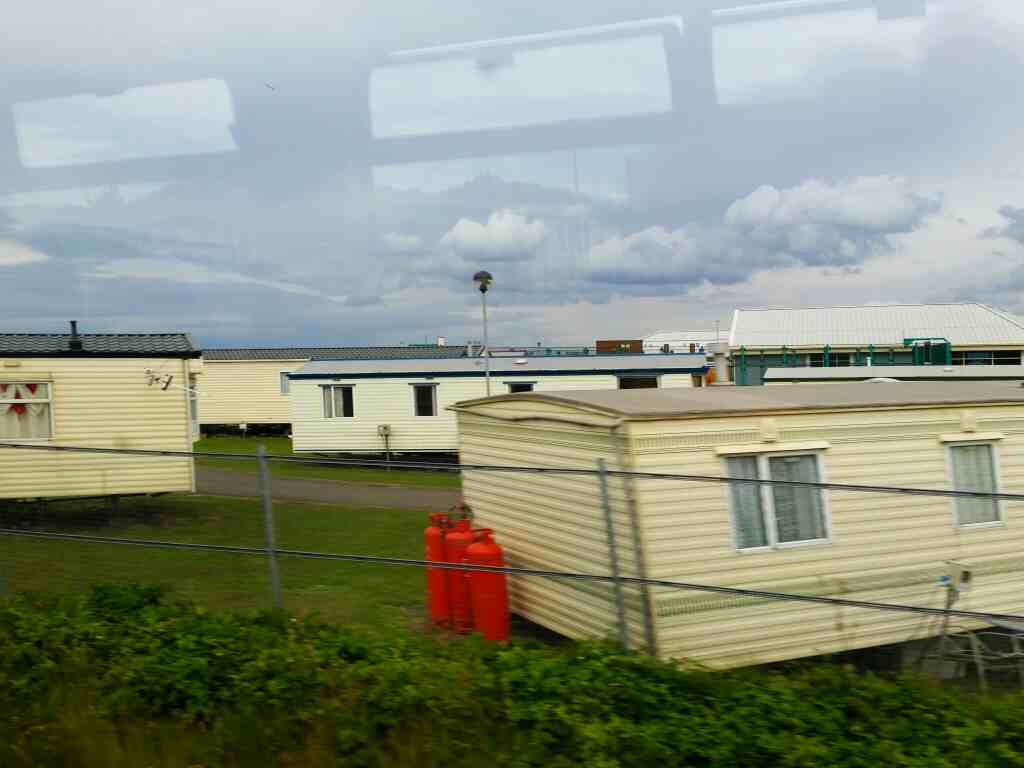 Passing Crimdon Dene Holiday Park on a Northern Rail Middlesbrough to Newcastle train