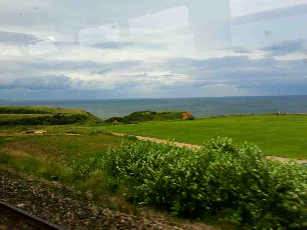 Between Hartlepool and Seaham on a Northern Rail Middlesbrough to Newcastle train