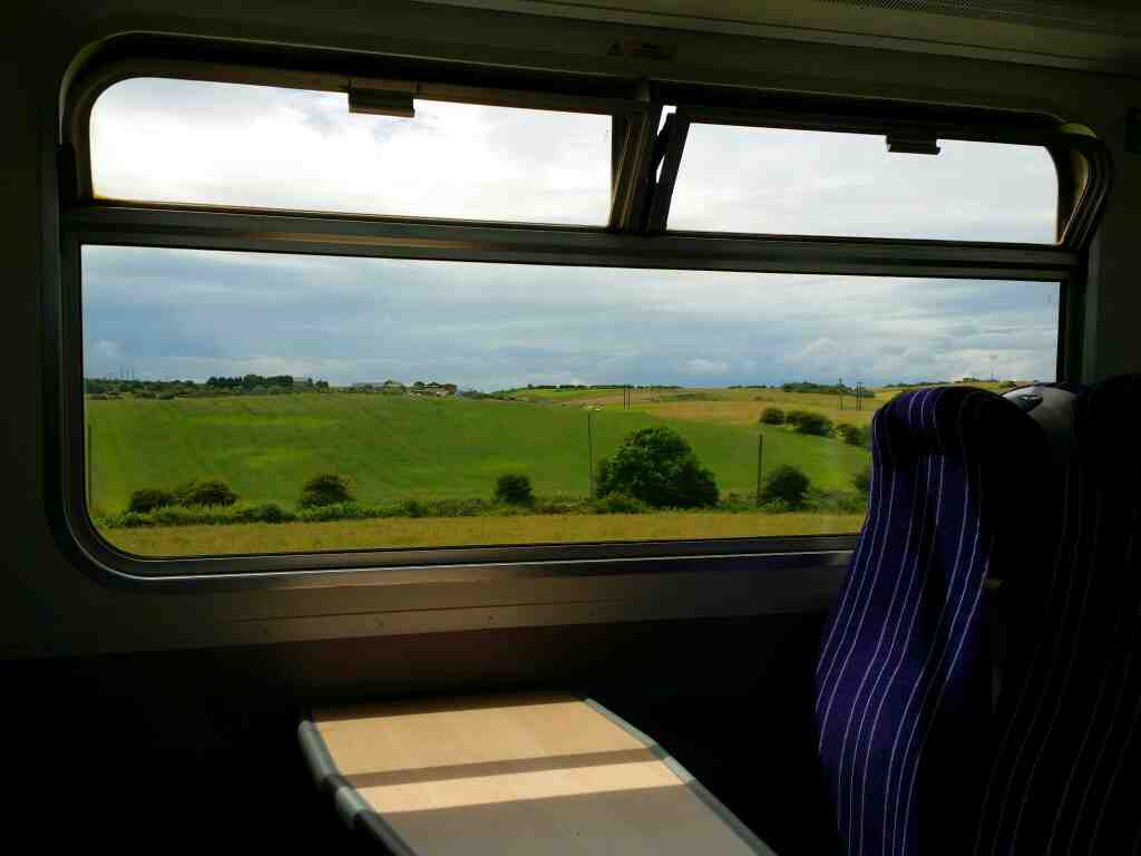 A easterly view from North of Crimdon on a Northern Rail Middlesbrough to Newcastle train