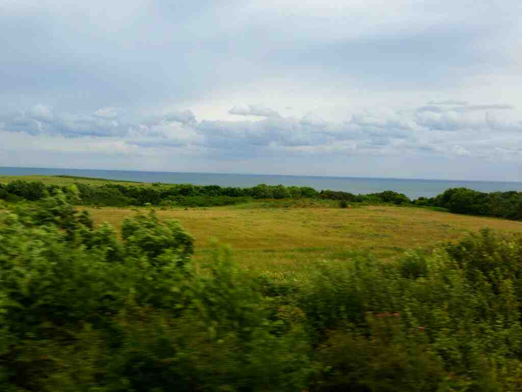 Good Coastal views on a Northern Rail Middlesbrough to Newcastle train