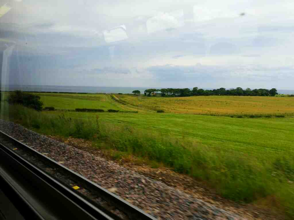 Between Seaham and Sunderland on a Northern Rail Middlesbrough to Newcastle train