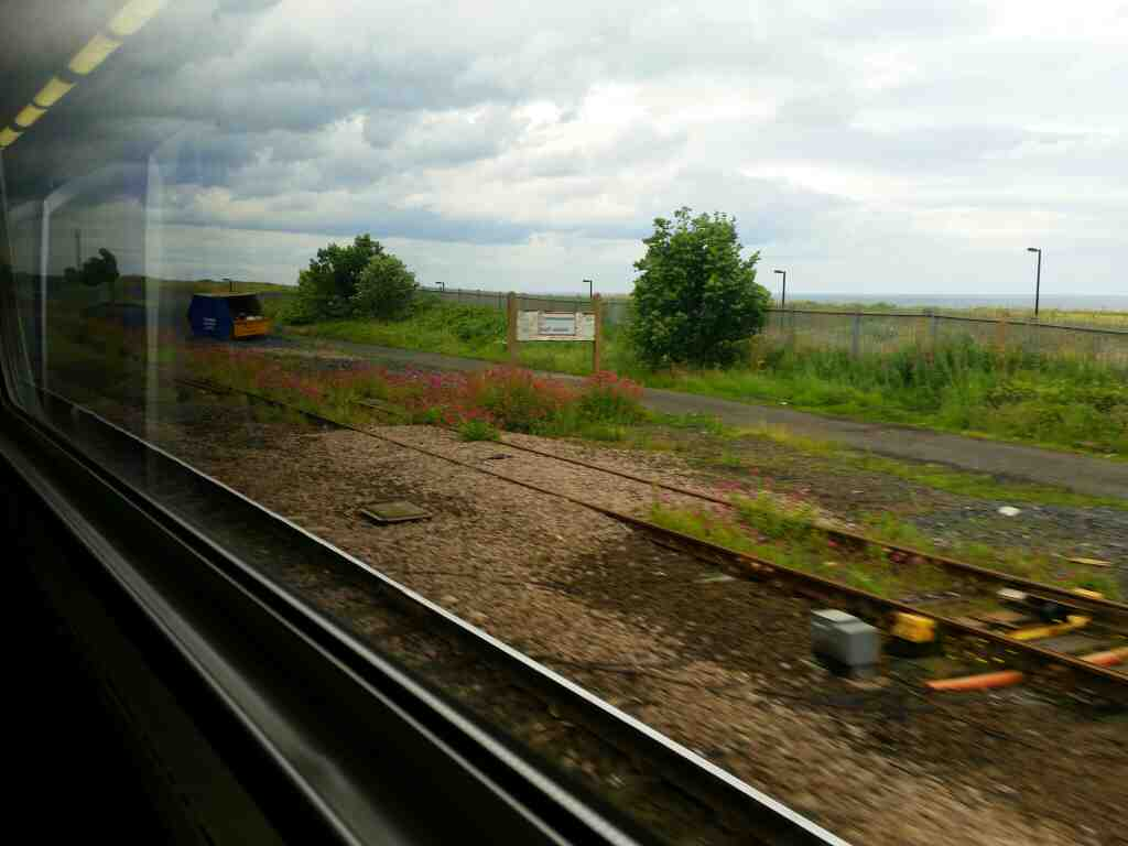 On the Outskirts of Sunderland on a Northern Rail Middlesbrough to Newcastle train