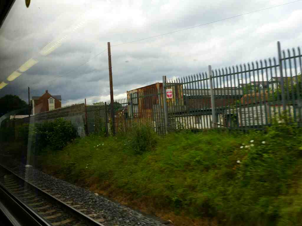 Getting closer to Sunderland Station on a Northern Rail Middlesbrough to Newcastle train