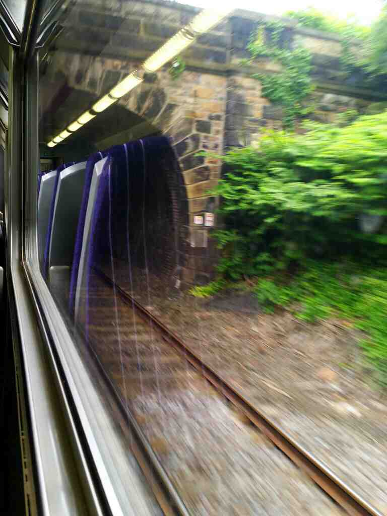 Dropping down towards Sunderland station on a Northern Rail Middlesbrough to Newcastle train
