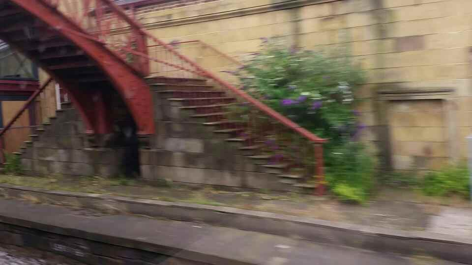 Passing through Monkwearmouth station on a Northern Rail Middlesbrough to Newcastle train