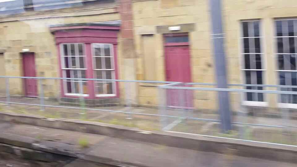 Passing the Monkwearmouth Station Museum on a Northern Rail Middlesbrough to Newcastle train
