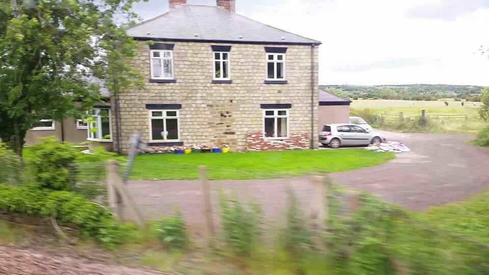 Blue House Farm on a Northern Rail Middlesbrough to Newcastle train