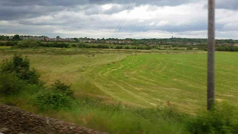 Heading in the direction of East Bolden on a Northern Rail Middlesbrough to Newcastle train