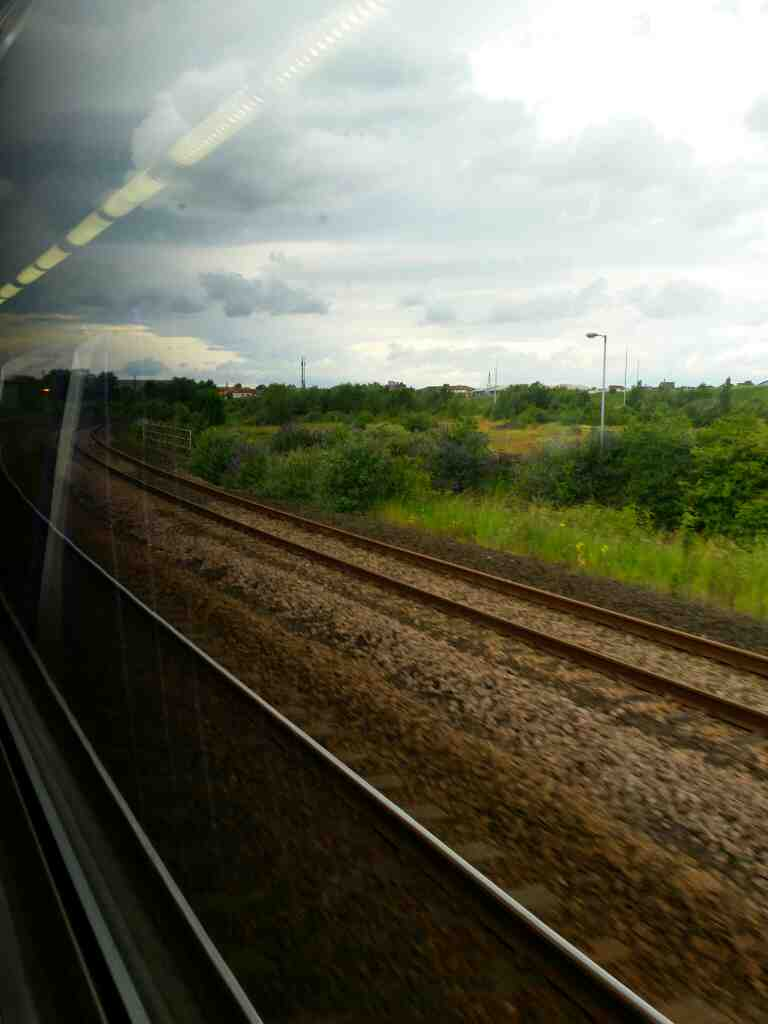 Heading towards Thornaby on a Northern Rail Middlesbrough to Newcastle train