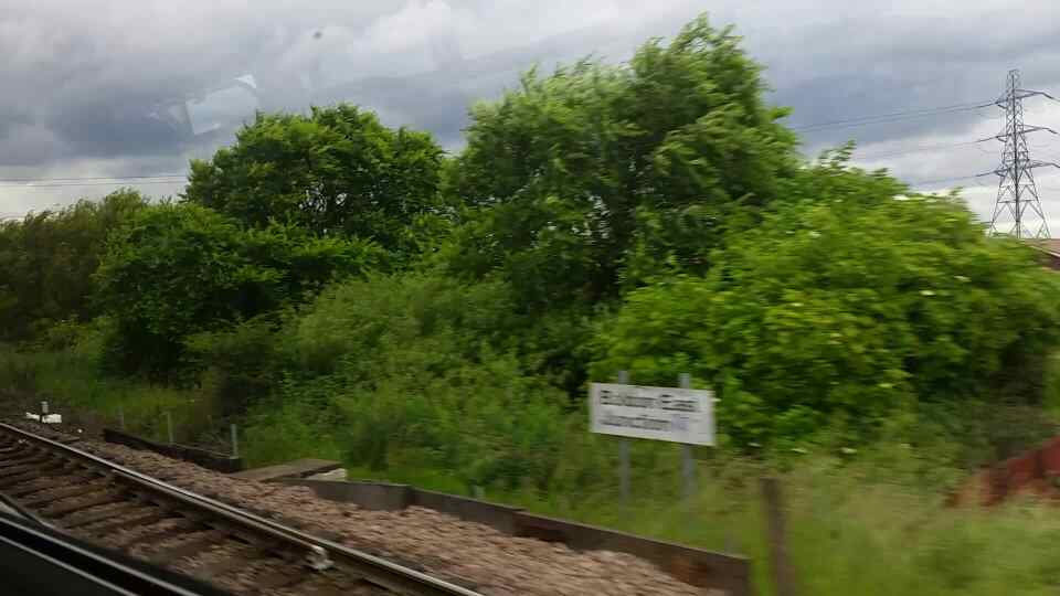 Bolden East Junction on a Northern Rail Middlesbrough to Newcastle train