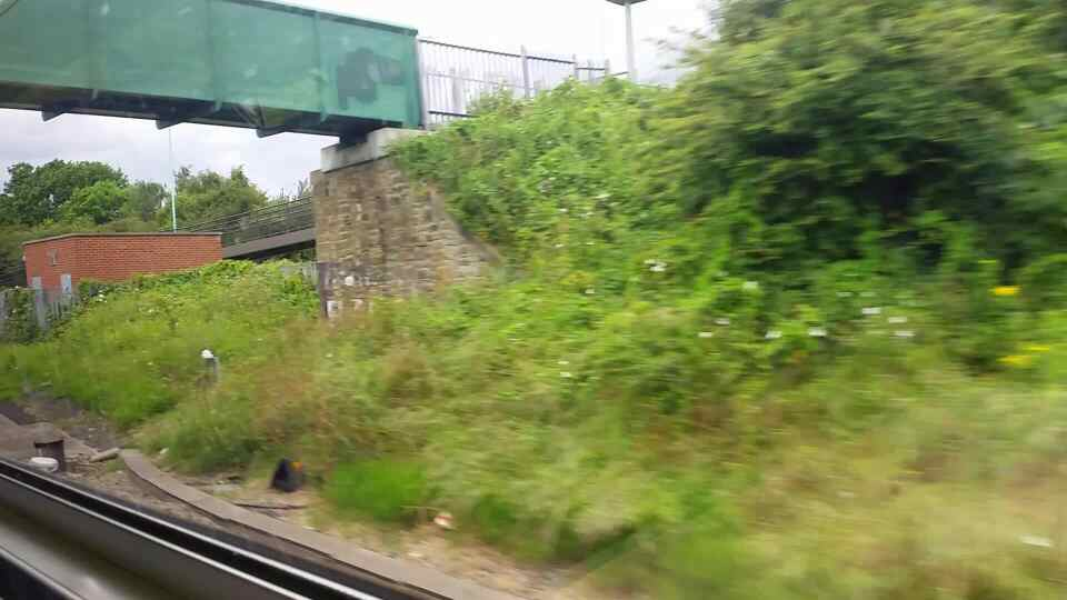 About to enter Brockley Whins.at speed on a Northern Rail Middlesbrough to Newcastle train