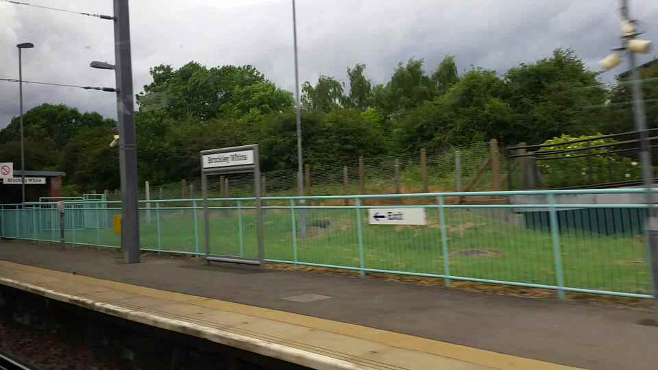 Entering Brockley Whins Tyne and Wear Metro Station on a Northern Rail Middlesbrough to Newcastle train