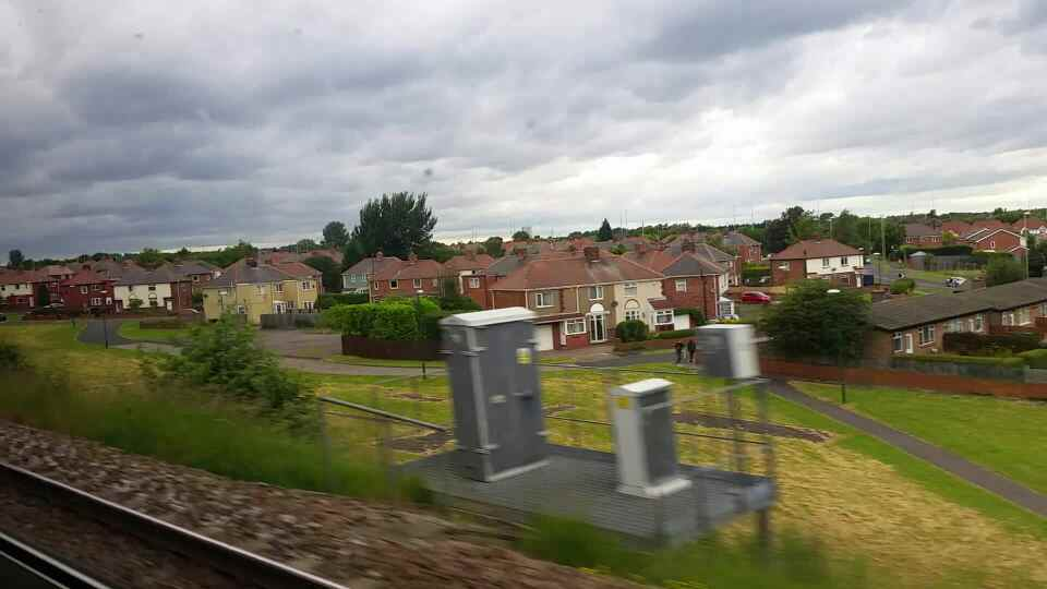 Wark Crescent Fellgate on a Northern Rail Middlesbrough to Newcastle train
