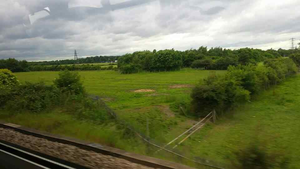 West of Fellgate on a Northern Rail Middlesbrough to Newcastle train