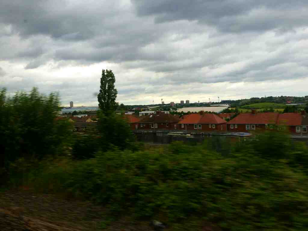 Between Heworth and Newcastle on a Northern Rail Middlesbrough to Newcastle train