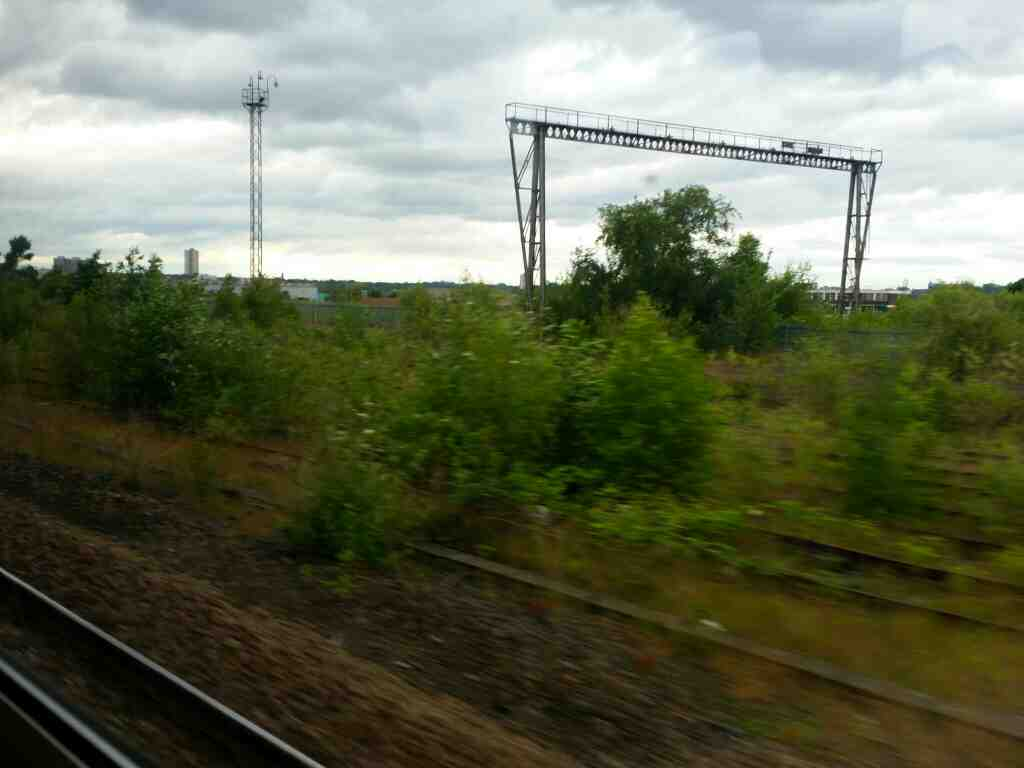 Drawing close to Newcastle on a Northern Rail Middlesbrough to Newcastle train