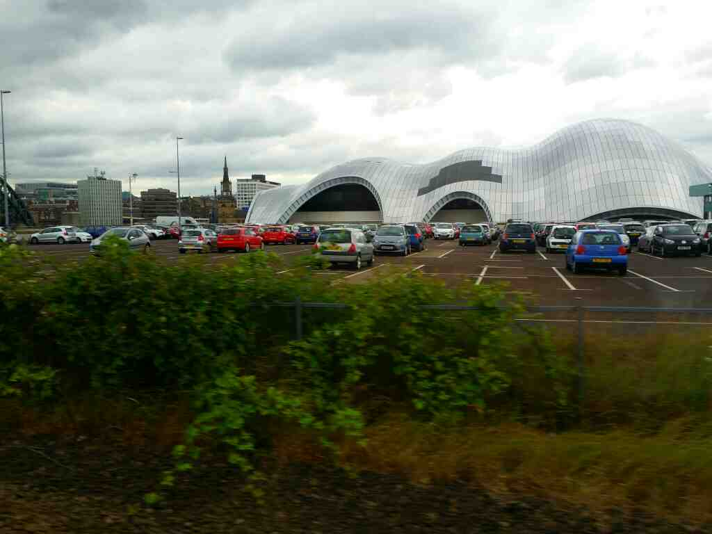 The Sage Gateshead on a Northern Rail Middlesbrough to Newcastle train