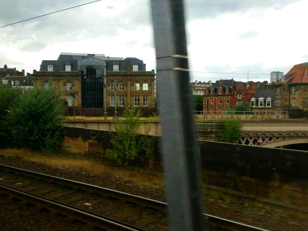 Approaching the East Coast Mainline on a Northern Rail Middlesbrough to Newcastle train