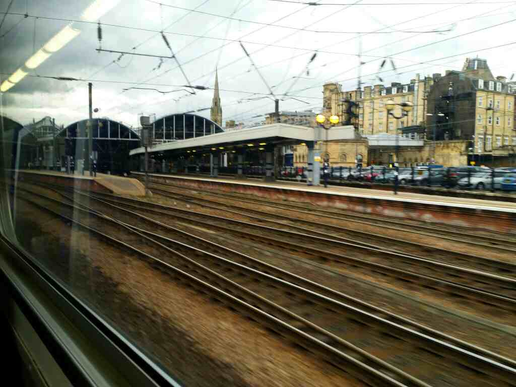 Appoaching Newcastle Central Station on a Northern Rail Middlesbrough to Newcastle train