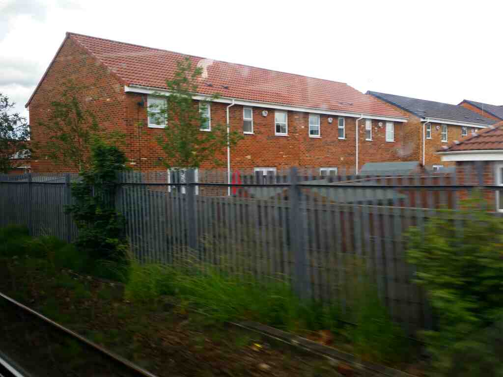 South of Stockton on a Northern Rail Middlesbrough to Newcastle train