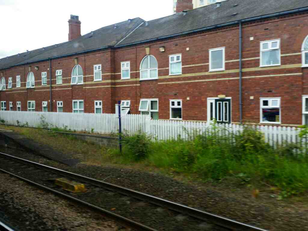 Approaching Stockton On Tees Railway Station on a Northern Rail Middlesbrough to Newcastle train