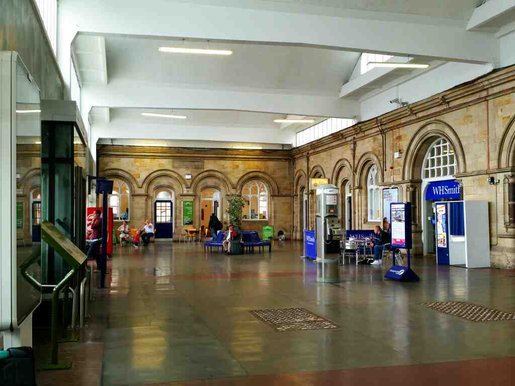The station concourse Middlesbrough waiting for a Northern Rail Middlesborough to Newcastle train